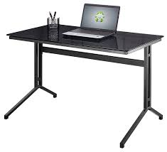 office table with glass top. Top 78 Splendiferous Black Glass Office Desk Home Table Writing Large Design With