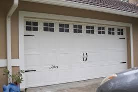 garage door carriage style makeover after