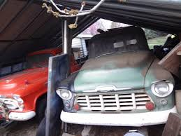 NAPCO SHED FIND! 1956 Chevy Suburban 4x4 & 1957 Chevy Apache 4x4 ...