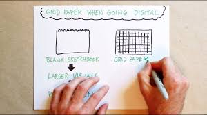 Using Graph Paper To Guide Your Writing And Drawing Youtube