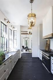 white kitchen with mercury glass