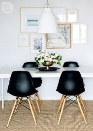 Designer Black Dining Chairs Condo Tour Modern Boho Chic Black White Dining Room
