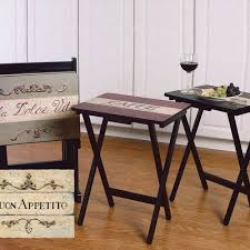 tv trays walmart. cape craftsmen buon appetito tv tray with stand (set of 4): furniture : tv trays walmart l