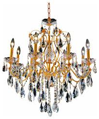 st francis 8 light 2 tier chandelier gold swarovski strass crystal