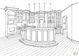 Small Picture Kitchen with Bar Counter coloring page Free Printable Coloring Pages
