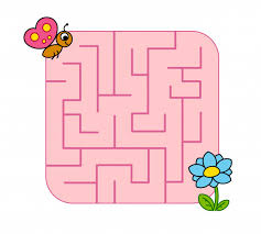 Help <b>baby</b> butterfly cub find path to <b>flower</b>. labyrinth. maze game for ...