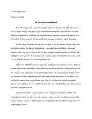 personal legend personal legend the story of samantha kemper  1 pages personal legend essay