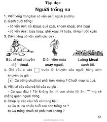 Giải vở bài tập Tiếng Việt lớp 1 tập 2 Tập đọc: Người trồng na