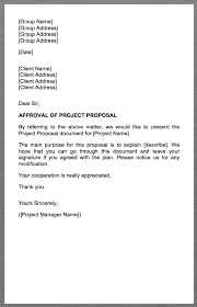 Project Proposal Cover Letters Project Proposal Cover Letter Group Name Group Address Group