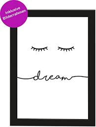 Picsonpaper Poster Din A4 Dream Gerahmt Mit Schwarzem Bilderrahmen
