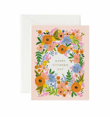 Mother Day Card Floral Mothers Day Greeting Card By Rifle Paper Co Made In Usa