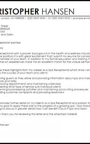 Spa Cover Letter Formatted Templates Example
