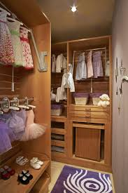 appealing carpet on wooden floor under usual ceiling lamp near big hanging space for children clothes