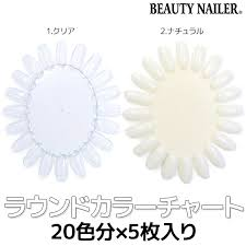 Beauty Nailer Round Color Chart 5 Pieces