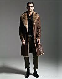 mink coat men best brown warm faux fox fur rabbit fur coat leather jacket men coat mink coat men