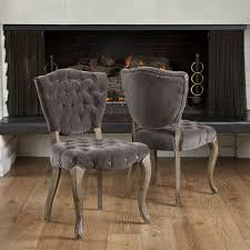 ebay dining chairs wooden. french weathered oak dining chairs w/ tufted velvet #followitfindit ebay wooden e