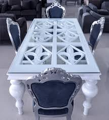 modern white dining table. click to see larger image modern white dining table a