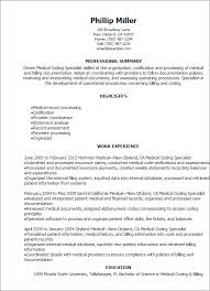 Resume Templates: Medical Coding Specialist Resume