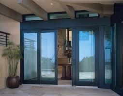 sliding patio door with transom