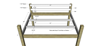 Plans For A Loft Bed Free Diy Furniture Plans How To Build A Queen Sized Low Loft