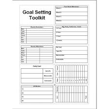 Goal Setting Charts Excel Xlsx Templates
