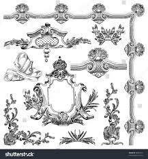 Ornamental Design Drawing Hand Draw Vintage Sketch Ornamental Design Stock Vector