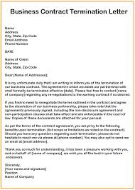 3 Free Business Contract Termination Letter Templates