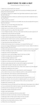 200 Questions to Ask a Guy - The only list you\u0027ll need.