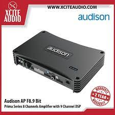 Audison Prima Series APF8.9 bit 8 Channels 260Watts RMS Car Amplifier with  Built-In 9 Channels Digital Sound Processor