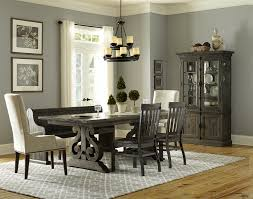Dining Table With 2 Chairs Magnussen Home Bellamy Dining Table 2 Wood Chairs 2 Upholstered