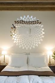 modern sunburst mirror like wall decal