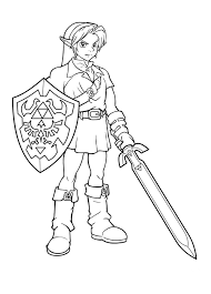 Small Picture Free Printable Zelda Coloring Pages For Kids
