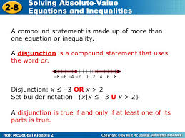 a compound statement is made up of more than one equation or inequality