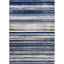 blue brown cream area rug signature stripes well woven rugs the home depot am 5 compressed brown blue round area rug