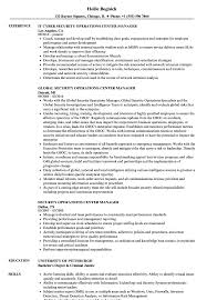 Security Manager Resume Examples Security Operations Center Manager Resume Samples Velvet Jobs 14