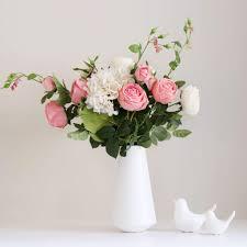pink floral arrangements.  Arrangements Dark Pink Floral Arrangement In Vase  Rose U0026 Hydrangea Inside Arrangements