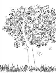 Amazing Doodle Art Tree Challenging Coloring