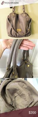 Marc Jacobs Classic Q Francesca Hobo Taupe Color- Brown/Gray Can be Used as