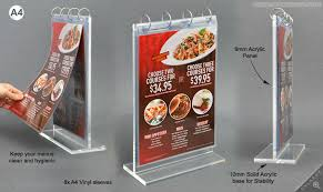 Menu Display Stands Restaurant Delectable Wholesale Acrylic Flip Menu Standplexiglass Manu Display Holder