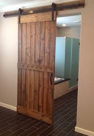 ... Interior Lovely Images Of Barn Style Sliding Door For Home Decoration :  Great Vintage Rustic Bathroom Decoration ...
