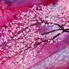 cherry blossom painting cherry blossoms by hailey e herrera