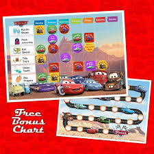 Childrens Reward Chart Instant Download Digital Download Personalised Disney Pixar Design