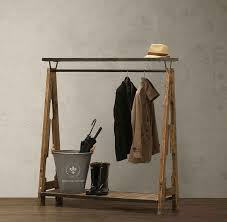 Antique Style Coat Rack American country style furniture industry LOFT recycling old fir 47
