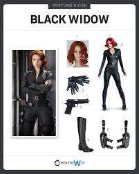 black widow costume guide
