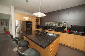 granite tiles on kitchen island countertop