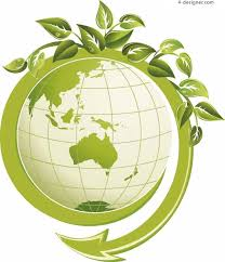 Earth picture over green leaves. The Environmental Club will help conserve the environment, promoting green, sustainable living.
