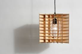 plywood lighting. Plywood Cube Pendant Lamp Lighting