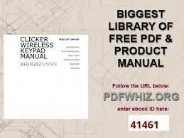 clicker garage door keypad instructionsclicker wireless keypad manual  YouTube