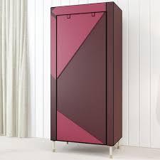 2019 hhaini portable closet storage organizer clothes wardrobe shoe rack overstriking single garment armoire cabinet from bestangel 104 02 dhgate com