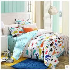 animal print cute white affordable cotton kids bedding sets